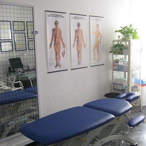 Lettino da massaggio blu