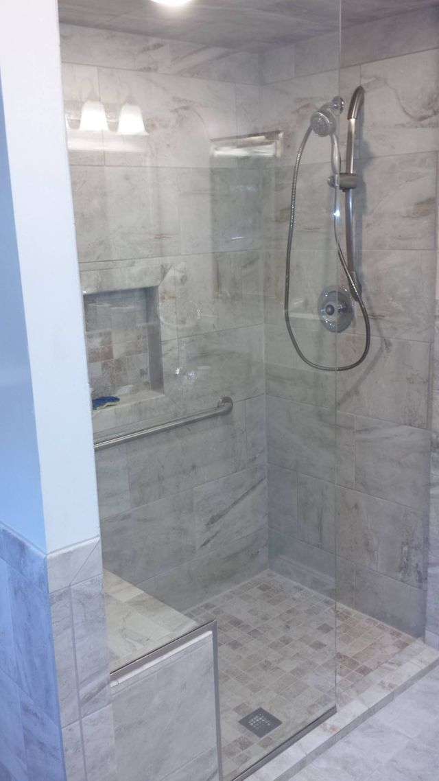 Frameless Shower Doors In A Bathroom