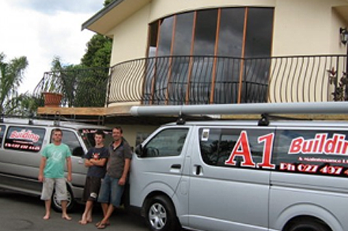 Van from building company in Waikato