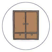 Reliable furniture storage icon