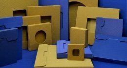 Casse di cartone quadrate e rotonde,rettangolari,piane