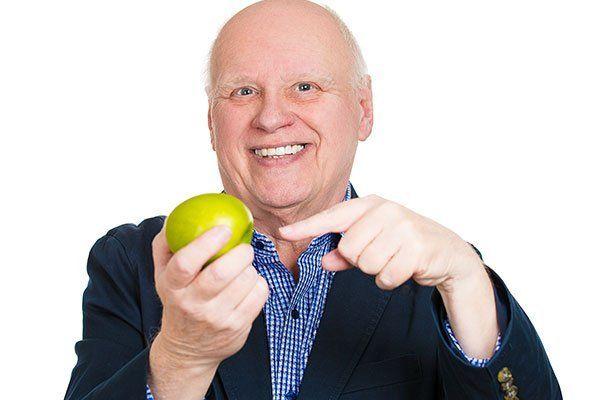 happy senior man nutritionist