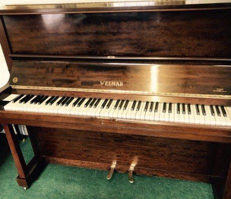 Steinway & Sons Mahogany Inlaid Case