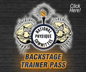 NPC Mr and Ms Buffalo Backstage Trainer Pass