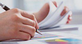accountancy report being prepared