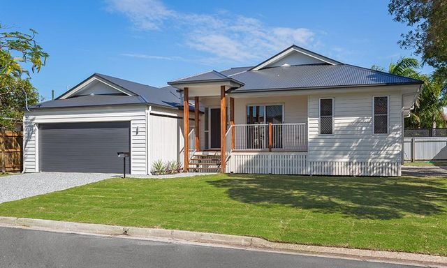 custom built weatherboard home