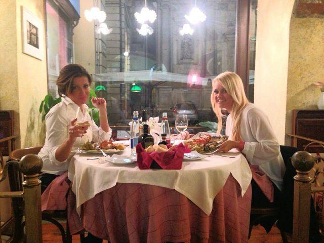 Amiche cenano a Torino