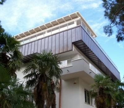 rivestimenti in acciaio per terrazzi