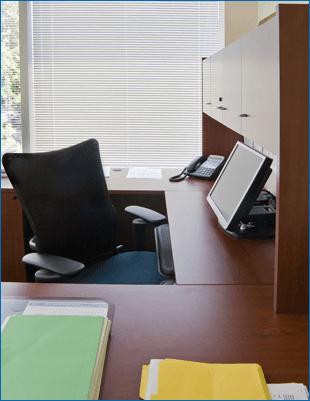 Laminated office furniture