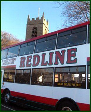 Redline double decker bus