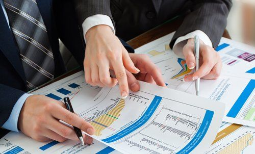 Tax professional doing analysis