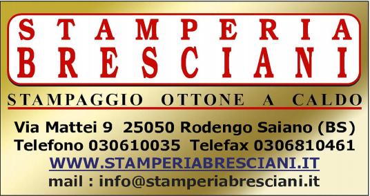 STAMPERIA BRESCIANI - STAMPAGGIO OTTONE A CALDO - LOGO