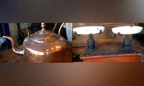 antique house utensils