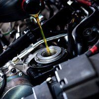 car filling oil in the engine