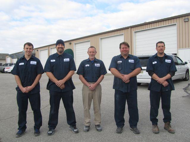 Auto body repair team outside our shop in Lincoln, NE
