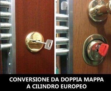 conversione da doppia mappa in una porta