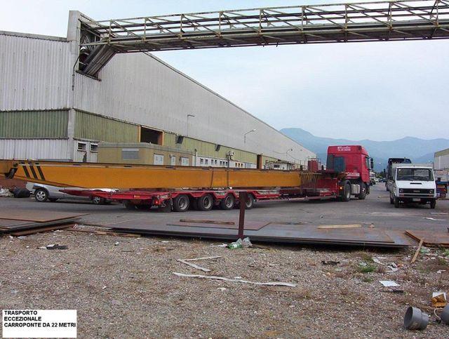 Camion trasporta un carroponte