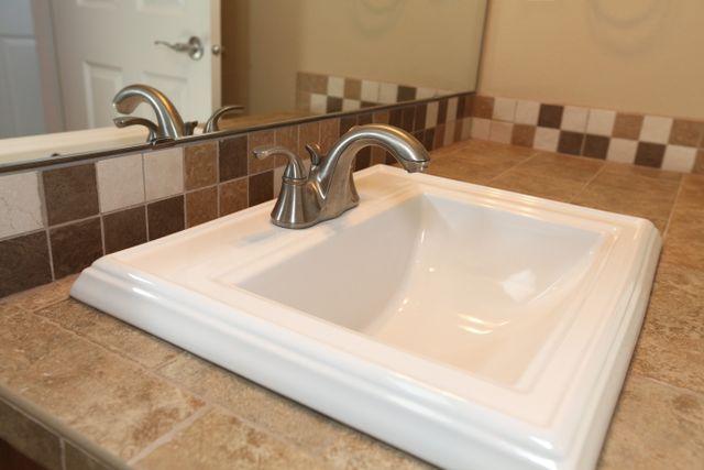Sick in renovated bathroom