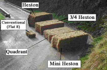 bale of various sizes
