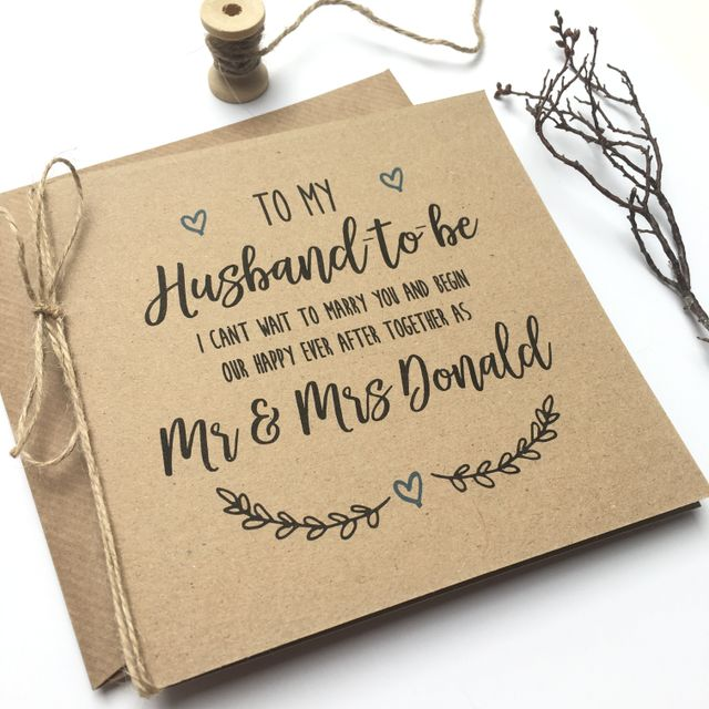 Paperoo Aberdeen Wedding Stationery Husband to be Card