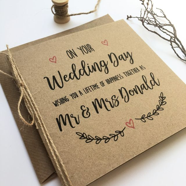 Paperoo Aberdeen Wedding Stationery Personalised Wedding Day Card