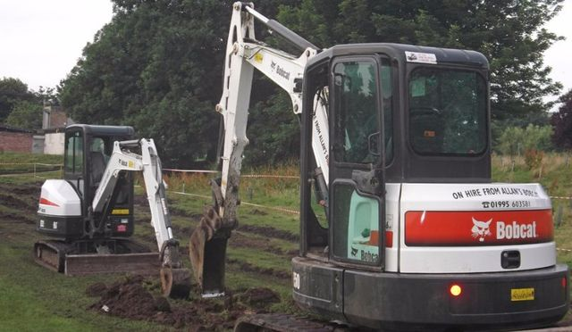 Football pitch drainage installation