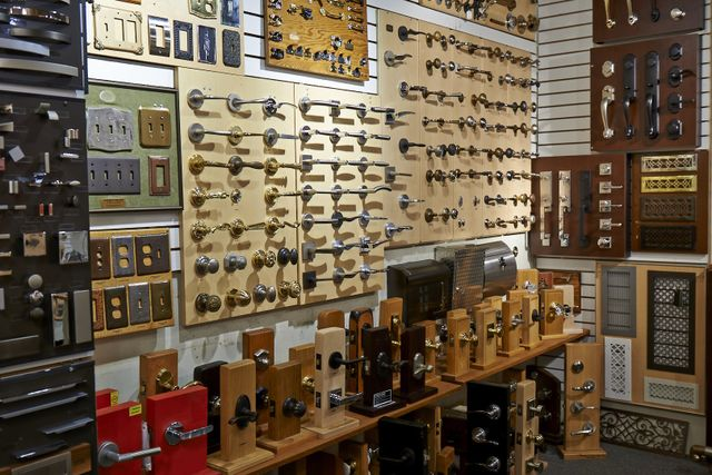 Variety of door knobs and handles