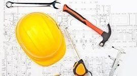 Progetto e attrezzi per edilizia