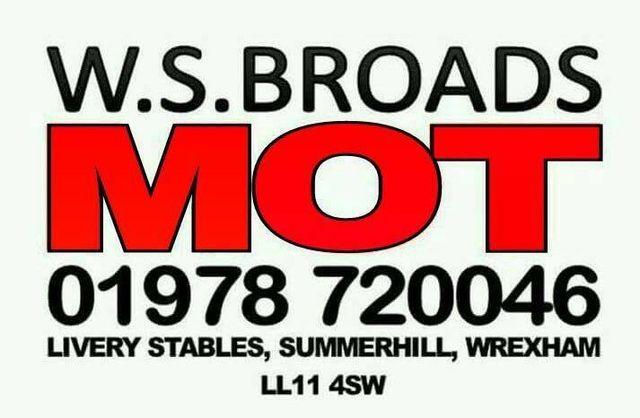 W.S. Broads MOT logo