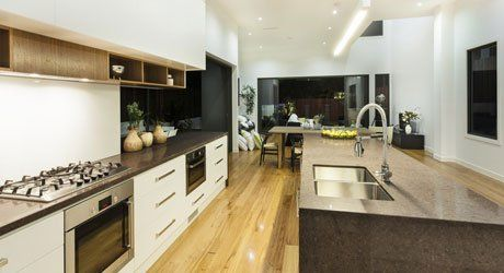 wooden floor in kitchen