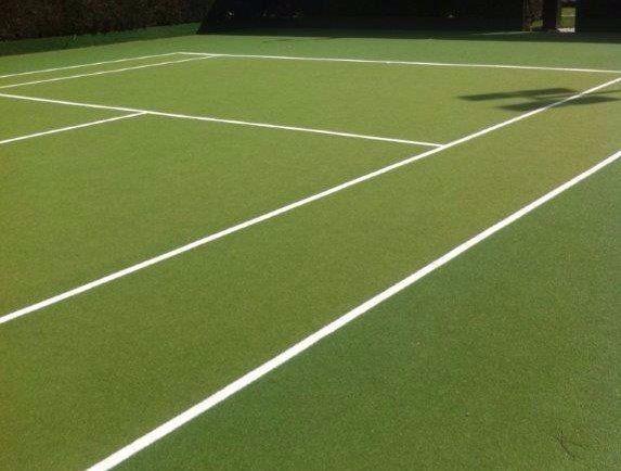marked tennis court