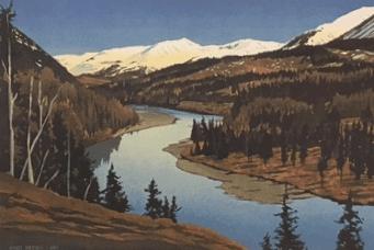 Byron Birdsall landscape print