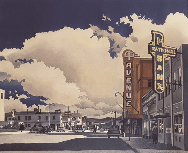 Byron Birdsall cityscape print