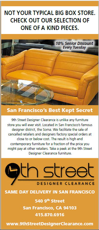 San Francisco 9th Street Designer Clearance Sale   July