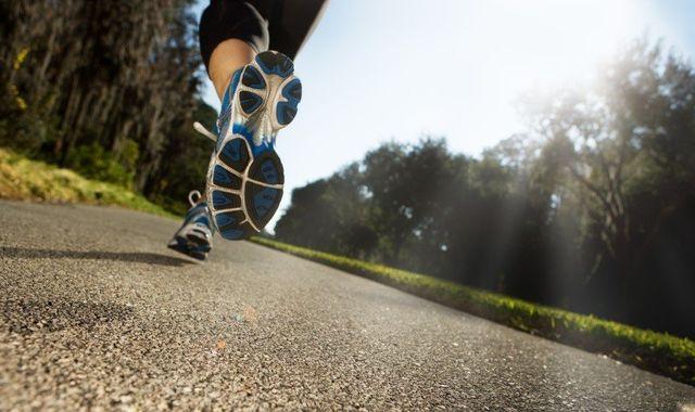 Woman running after bunion treatment in Kenai, AK