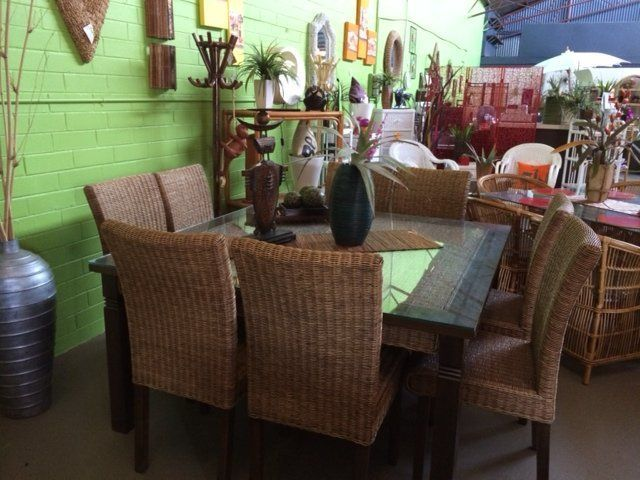 Randos cane furniture perth dinning suites rectangle kobi for 8 seater dining room suites