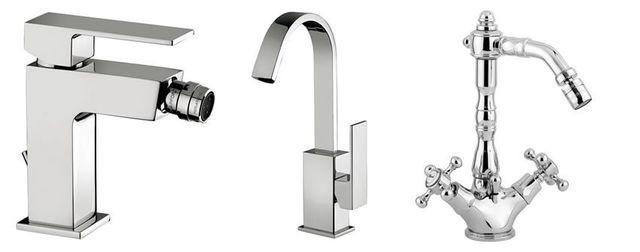 tre rubinetti in stili diversi