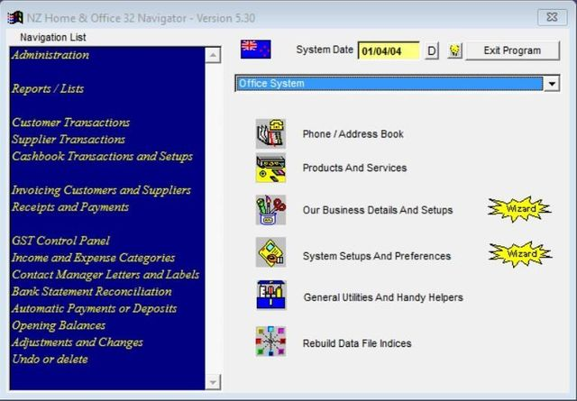 home office software free. Accounting Software Screenshot Home Office Free N
