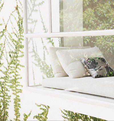 Bright sunny windowsill