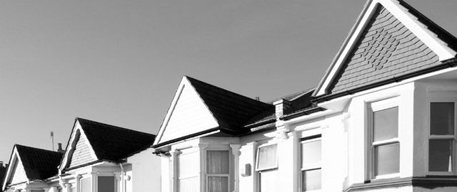 Terraced house roofs