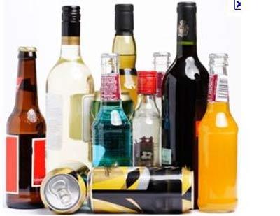 Bottiglie di varie bibite alcoliche