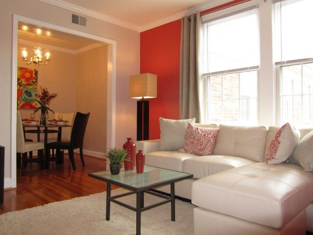 Dining Room & Living Room for your Spacious Del Ray Apartment Rental Home in Alexandria, Virginia!