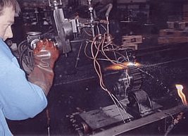 flame hardening method