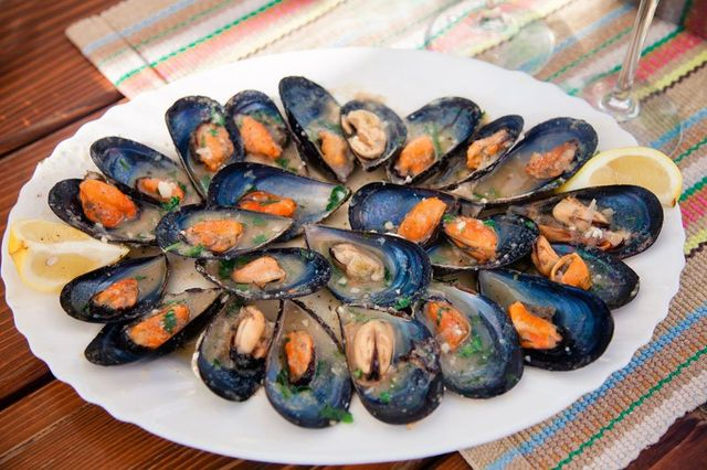 Piatto di Cozze al limone presso La Cena Di Afrodite a Squillace (CZ)