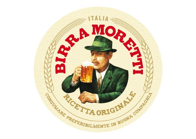 logo birra moretti marrone chiaro