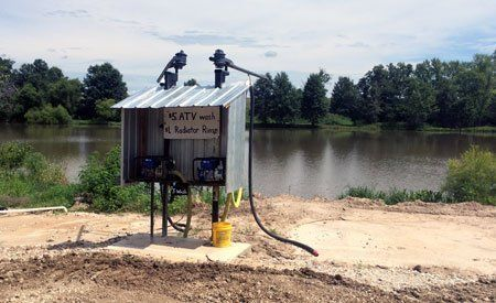 Powerwash ATV station at Smurfwood Trails Mud Park