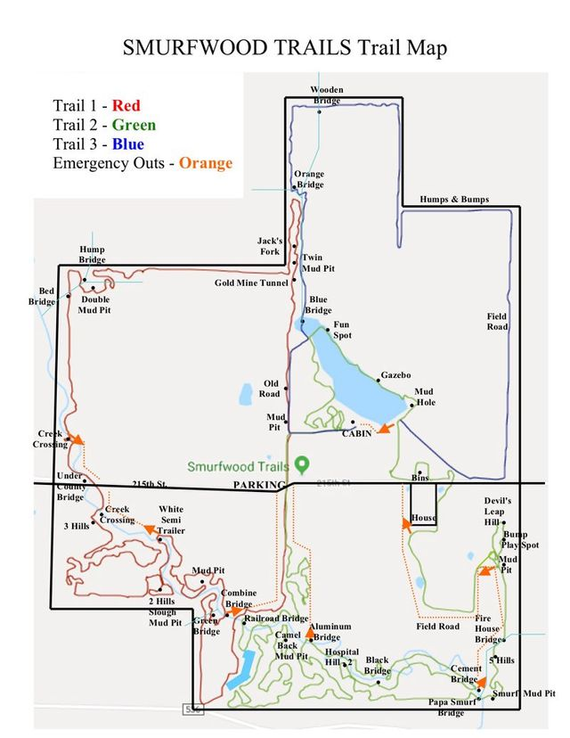 ATV Trails Maps | Directions to Smurfwood Trails | ATV Riders