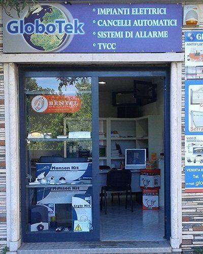 Vista frontale della azienda Globotek a Nettuno