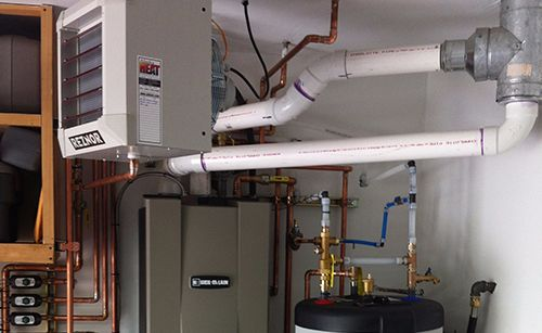 Repaired heating system installed at the customer site in Eagle River, AK