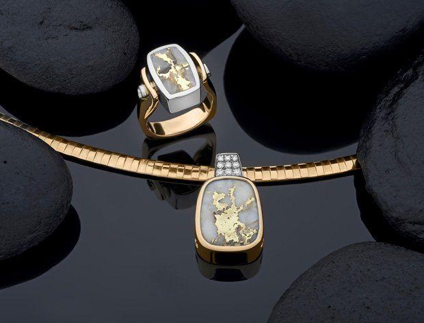 Schmiers Steve Jewelry California Gold Bearing Quartz